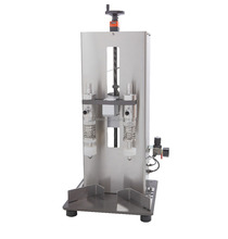 2 Heads Tabletop Overflow Filler for liquid at low cost/ Easy to Operate Compact Filling Machine