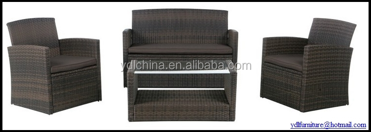 aluminum frame PE wicker rattan furniture set YKD-02A