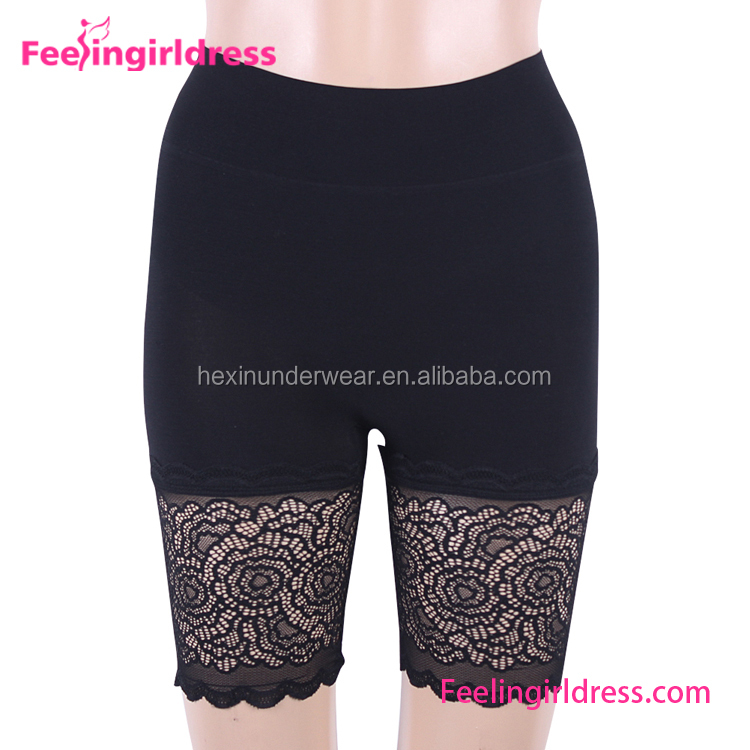 Women Shapewear Lace Smooth High-Waist Thigh Slimmer Shorts
