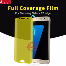 100% Perfect Fit!! Edge to Edge Self Healing 3D Full Cover Gold TPU Screen Protector for Samsung Galaxy S7 S7 Edge