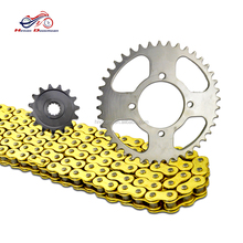 Sprockets chain motorcycle, motorcycle chain and sprocket set for suzuki gn250 parts