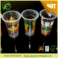 reusable plastic bubble tea cup with good quality