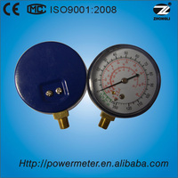 Y-100D refrigeration freon manometer types CE certificate copper bottom connection freon pressure gauge