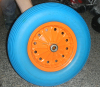 steel rim pu foam wheel barrow wheel 4.00-8
