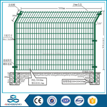 Welded Mesh Fence used for gardeb road,railway double wire fence factory