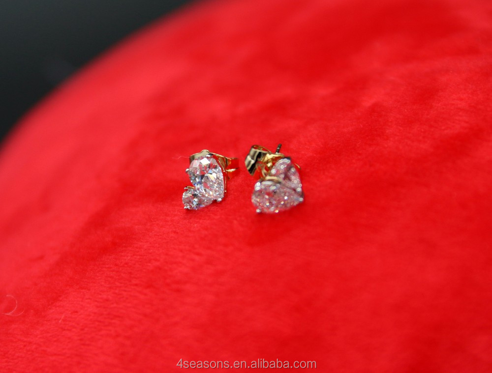 Daily wear stud earrings Fancy earring zircon earrings, zircon hoop earrings, cool stud earrings