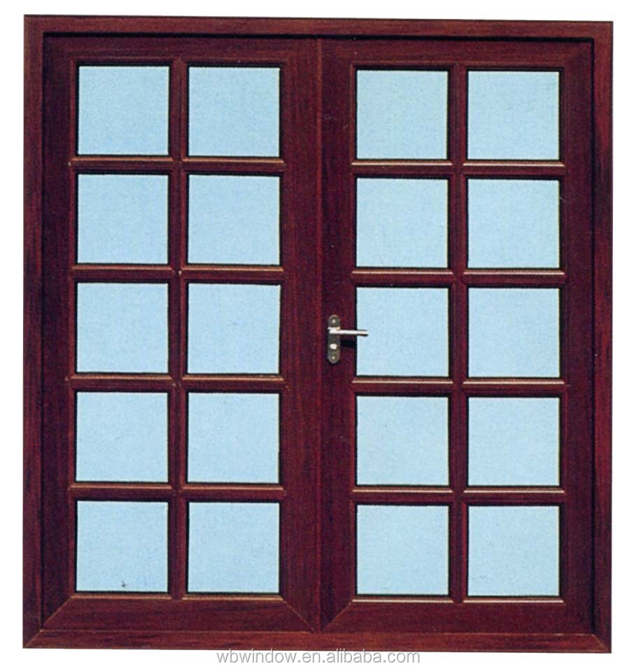 Plastic Casement Window With Grill Design And Mosquito Net