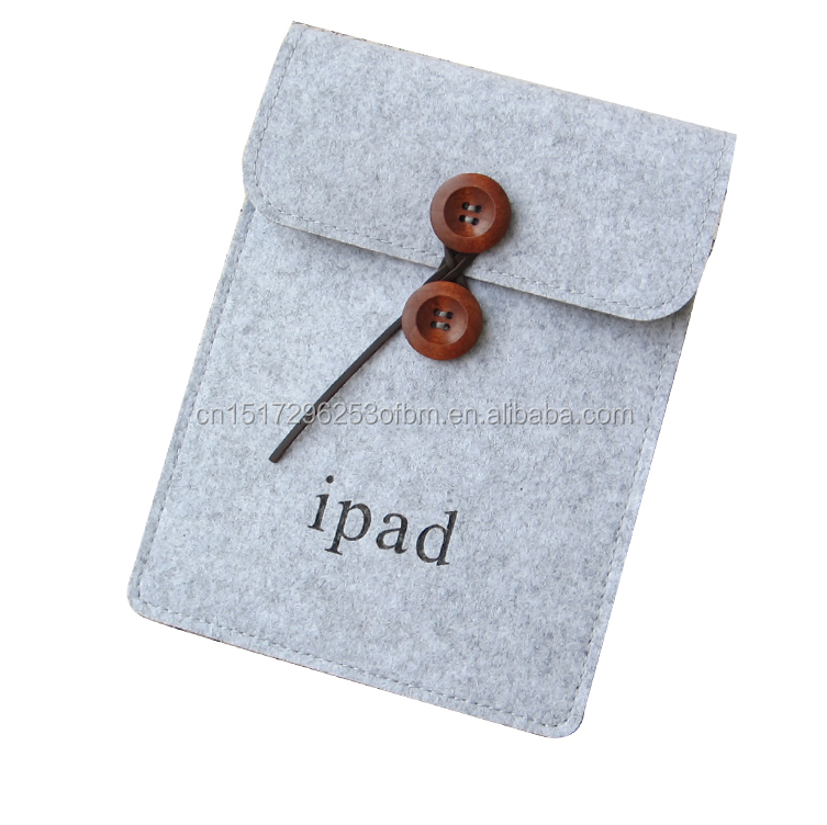 Wholesale High quality customized size wool felt tablet bag for ipad 2 3 4