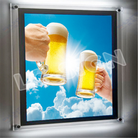 picture frame acrylic advertising magic mirror sensor display led light box