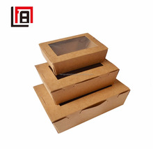 Different Sizes Paper Board Boxes Cheap Healthy Food Packaging Box with Clear Windows