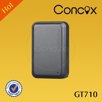 super strong magnetic mounting support remove alert Concox GT710 GPS Asset Tracker with 3 years standby time.
