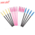 Yaeshii hot sale silicon applicator Pink Color Disposable Mascara Wands makeup  tool cosmetic Eyelash Extension Brush