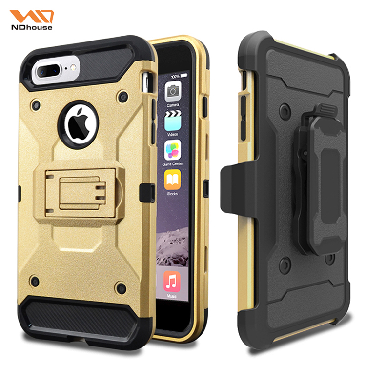 For Apple iphone 8 case hybrid hard mobile phone case with belt clip holster