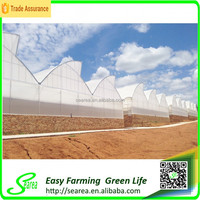 Span connecting greenhouse farming with water gutter
