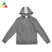 Custom high quality zipper printing hoodie sweater plain