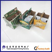 2,4,6 pack paper beer carrier box