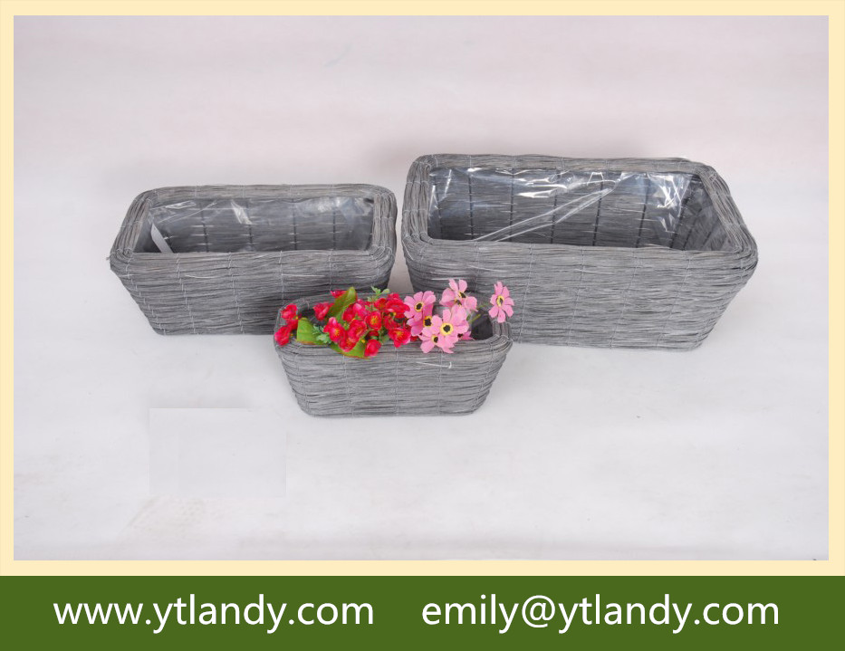 customized square willow flower tray