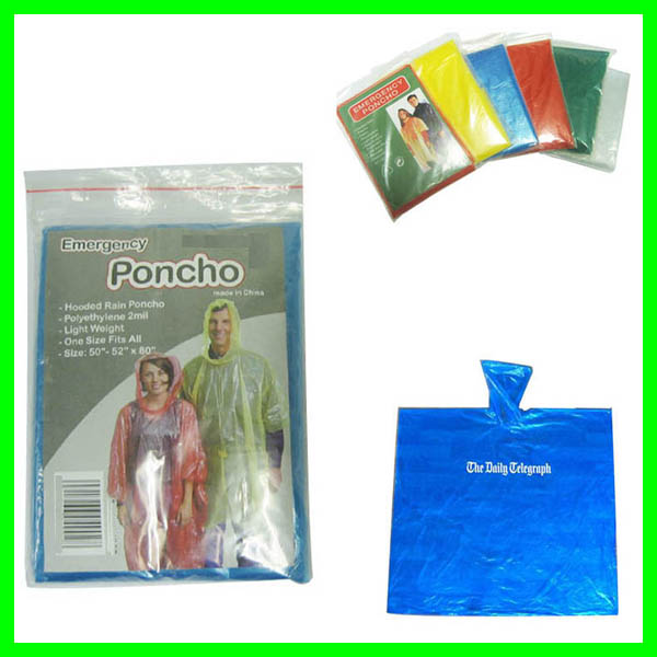 Emergency Disposable Rain Ponchos
