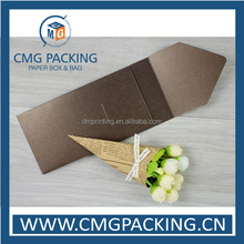 Custom pearl paper /iridescent paper envelope with your logo