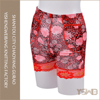 Custom plus size wholesale price red print panties for fat women