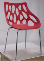 Exquisite Hollow Out Back Leisure Style abs Plastic Chair