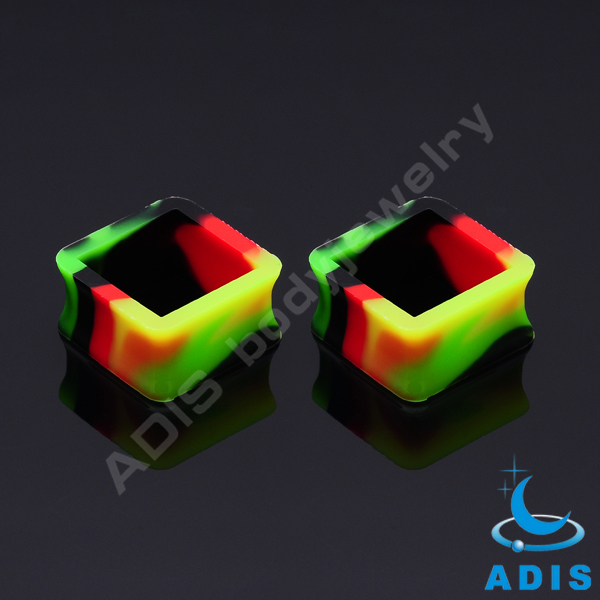 Wholesale Ear Piercing Plug Guage Soft Silicone Ear Skin Ear Tunnels