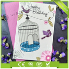 Wholesale Fashionable Custom Printing Paper Happy Birthday Card Design