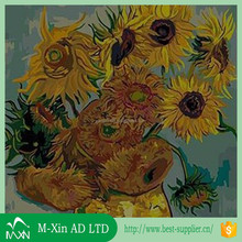 Waterproof polyester canvas 3d flower oil painting