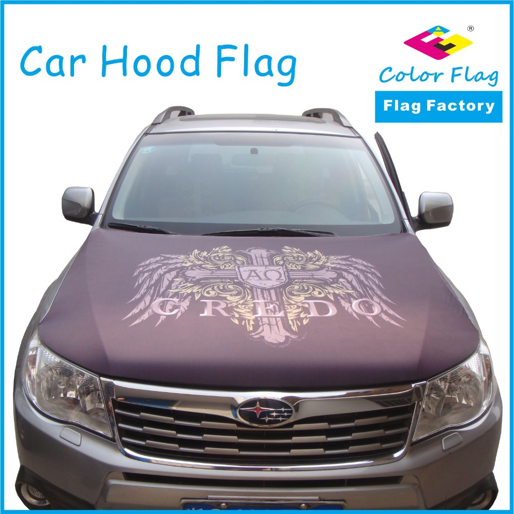 Novelty Car Autoglove Hood Flag