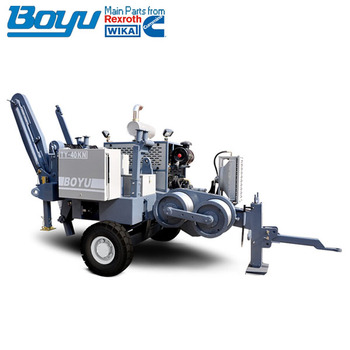 Max intermittent pulling force 50KN Electrical cable pulling machine