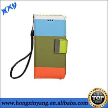 Hot selling cell phone case Hybrid Colorful Wallet Leather Case for iPhone 5c.