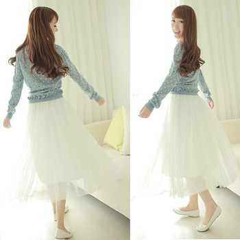 2014 New style Women Fashion Princess Fairy Style 2 layers Tulle Dress Bouffant Skirt new