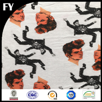 China factory golden supplier high quality digital printed 100 cotton jersey fabric