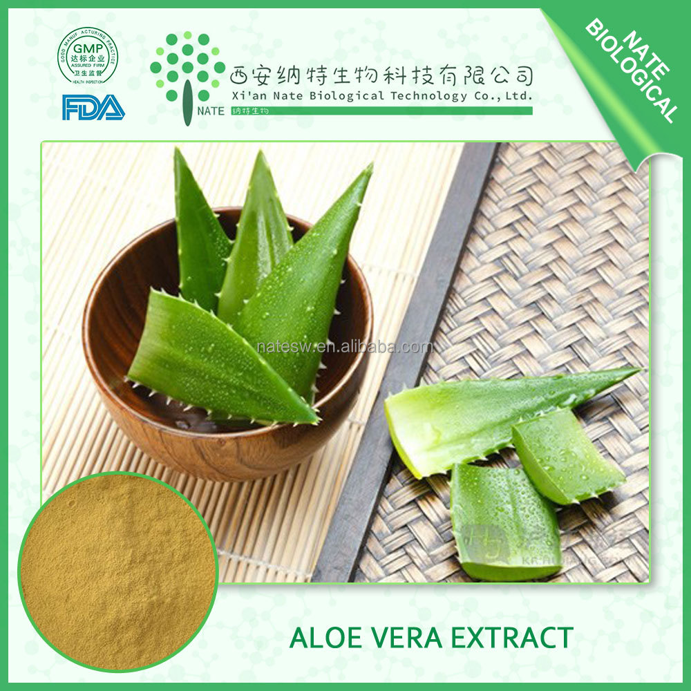 100% pure natural Aloe Vera Extract powder aloin 20%30%40% HPLC free sample