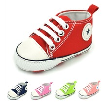 2017 Toddler Infant Newborn Baby Soft Sole Crib Canvas Sneaker Shoes,5 colors