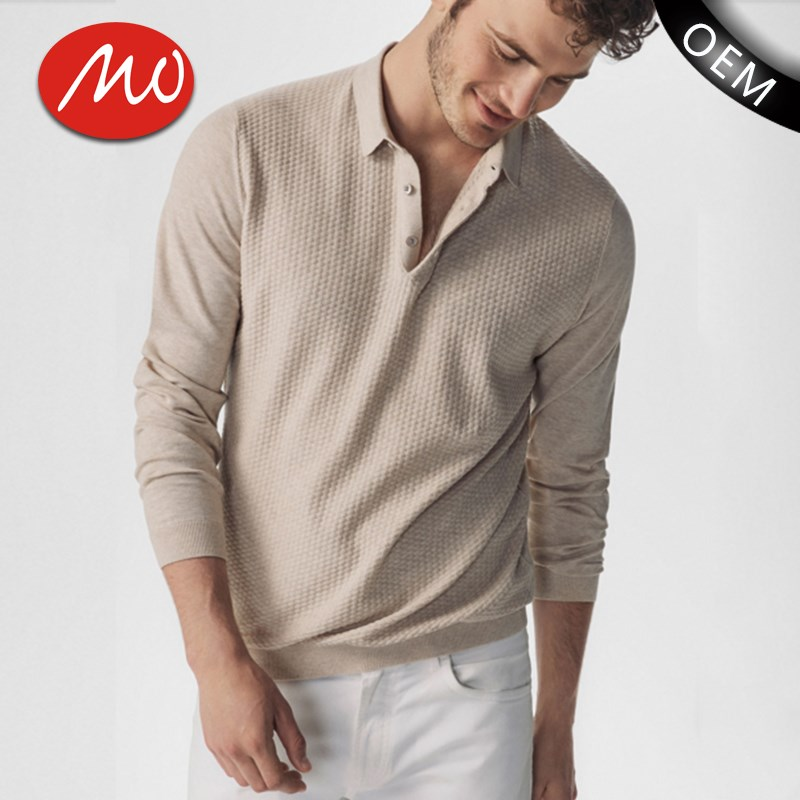 Custom made knitted cloth pashmina men polo neck cashmere sweater for wholesale