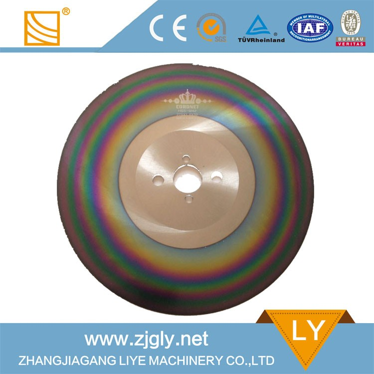 COR-02 Multicolour high speed steel circle saw blade for metal cutting