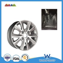 Electrostatic powder paint metallic powder coating for car wheel with chrome effect