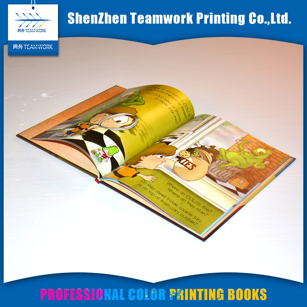 fashion design cheap thick hardcover childrens comic book printing