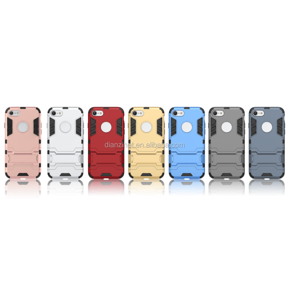 2 in 1 Armor Iron Man Kickstand phone case for iphone 7