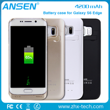 Top seller high quality slim portable power case for Samsung S6 edge for chrome computer case