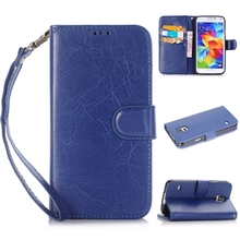 PU Leather Case Detachable Magnetic TPU Wallet Mobile Phone Case with Slot Wallet Wrist Strap Cover for Samsung Galaxy S8