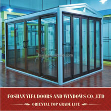 High quality used balcony aluminium lowe glass sunrooms for sale