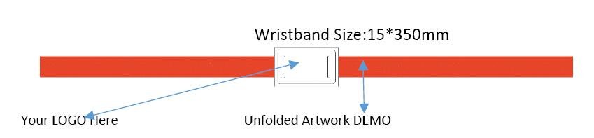 WP19 Event Festivals MIFARE Classic 1K RFID Fabric Vinyl Wristband