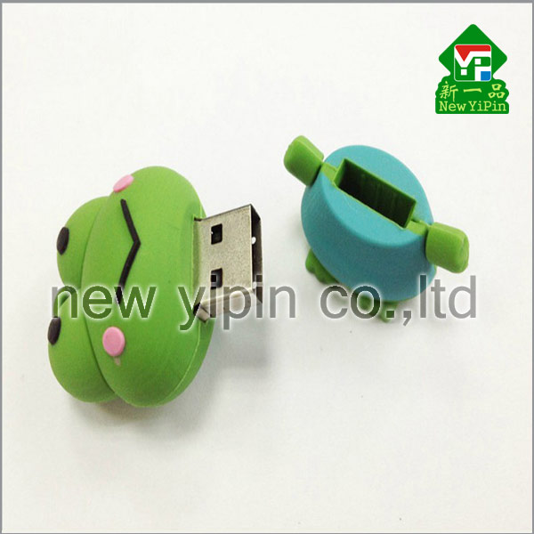 New Yipin Free Mold Fee Frog Prince Soft PVC Novelty USB Flash Drives Cheap Prices