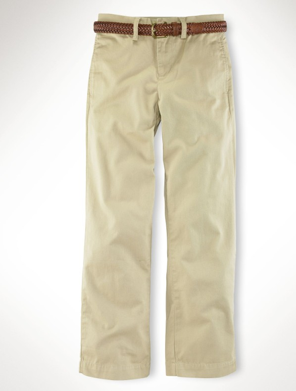 Childrens/Kids Boys' Suffield Flat-Front Chino Pant 8-20Years