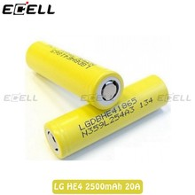 Original LG HE4 2500mAh 35A High Drain Battery, LG HE4 18650 2500mah Rechargeable Vapor Batteries