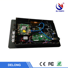 Inexpensive 4 wire resistive multi-touch black industrial all in one pc with built in wifi