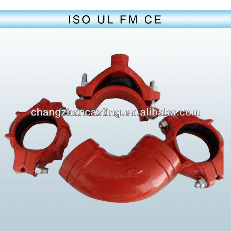 HOT! UL FM CE Cast iron pipe grooved fittings