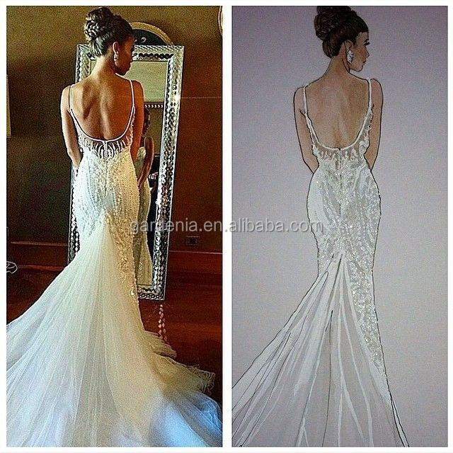 Backless dresses for wedding lace bridal dress pattern mermaid wedding